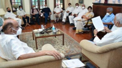 Photo of The broad opposition alliance is strengthened;  Sharad Pawar speaks to Congress and left-wing parties