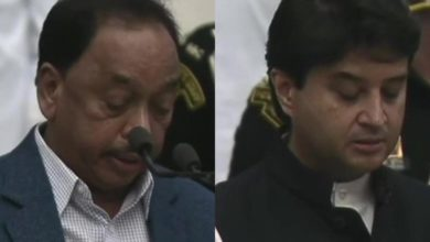 Photo of Scindia and Narayan Rane, who left Congress, are now Union ministers;  Rane was also a prominent leader of Shiv Sena