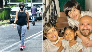 Photo of Mandira Bedi came out of the house for the first time after her husband's death and the sadness on her face was clear