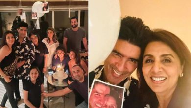 Photo of Neetu Kapoor celebrates 63rd birthday with friends after family, house decorated with balloons