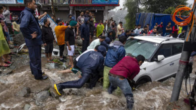 Photo of Gusts of water in Himachal, heavy rains;  Vehicles washed away by flash floods: video
