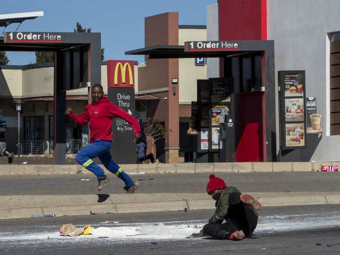 South Africa AP riots