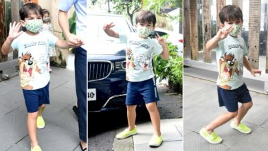 """Photo of On seeing the camera, Kareena's darling Taimur flirted and asked the photographers, """"Can I go?"""""""