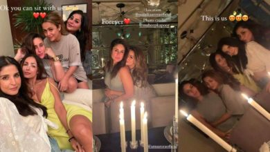 Photo of Malaika Arora had candle light dinner with sisters, the decoration was beautiful