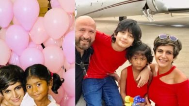 Photo of Forgetting sorrow, Mandira Bedi celebrated son Tara's fifth birthday, house decorated with balloons