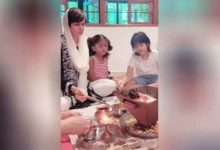 Photo of A month after the death of her husband Raj Kaushal, Mandira Bedi performed Havan along with her children