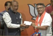 Photo of Former Manipur Congress President Joins BJP;  The party change occurs before next year's assembly elections.