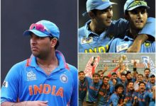 Photo of Yuvraj with the Friendship Day video;  Two Indian captains fell !!