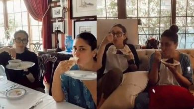 Photo of Kareena Kapoor ate a full meal with sister Karisma on holiday