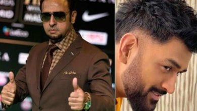 Photo of 'Bad Man' Gulshan Grover scared of Dhoni!  Said 'Brother don't hit me in the stomach'
