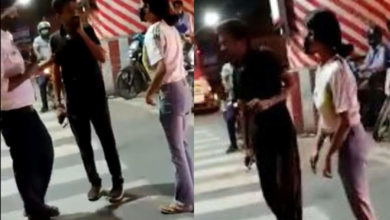 Photo of Beating of a taxi driver on the Nadu highway;  The woman was questioned by the police.