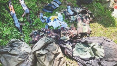 Photo of Viagra pills along with weapons in possession of militants killed in Jammu