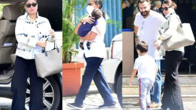 Photo of Saif Ali Khan to celebrate birthday in Maldives, spotted at airport with wife and kids
