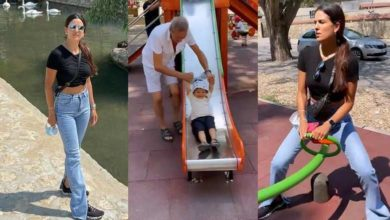 Photo of Natasha Stankovic went on a walk with her son