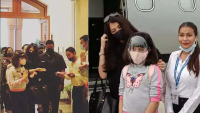 Photo of Aishwarya Rai reached Madhya Pradesh with daughter, Aaradhya shook hands and received a warm welcome