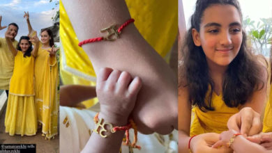 Photo of Dia Mirza's son's first Rakshabandhan, tied half-sister with love