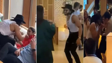 Photo of Ranveer, wife Deepika dancing with mom and dad at birthday party!