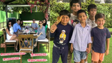 Photo of Kareena Kapoor and Taimur on a road trip with friends, lunch together at a five star restaurant