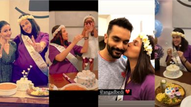 Photo of BFF surprises baby shower for Neha Dhupia, excited looking daughter Maher