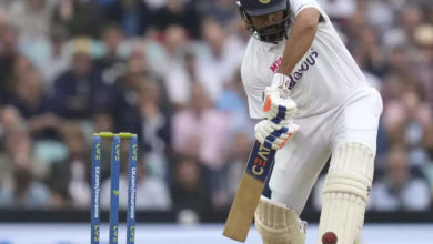 Photo of Rohit's first century of testing abroad;  He also owns a rare record !!