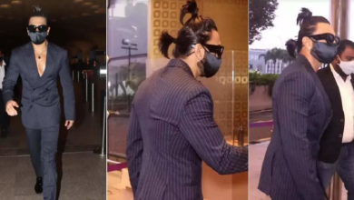 Photo of Two choli, shirtless suit… Ranveer Singh was once again seen in a strange look at the airport