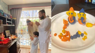 Photo of Establishment of Ganeshji in Kareena Kapoor's new house: Curry worship with family, Taimur made Ganpati out of clay