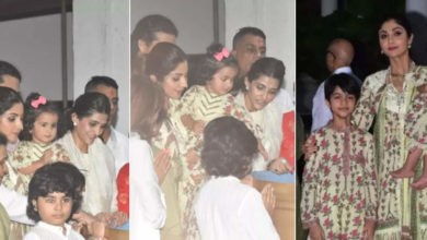 Photo of Shilpa Shetty performed Ganesh Visarjan with mother-in-law, little Samisha caught attention