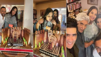 Photo of Shabana Azmi celebrated 71st birthday with family and friends, 'Empress' themed cake was the highlight
