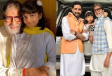 Photo of Son Abhishek and granddaughter Aaradhya gave a special gift to Amitabh Bachchan