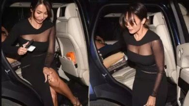 Photo of Malaika reached Manish Malhotra's house wearing a tight dress, got down from the car