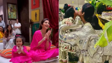 Photo of Daughter's Day: Shilpa Shetty was happy to see her daughter flirting, shared a cute video of Samisha