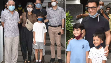 Photo of Aamir Khan with his ex-wife Kiran Rao had lunch with their son Azad