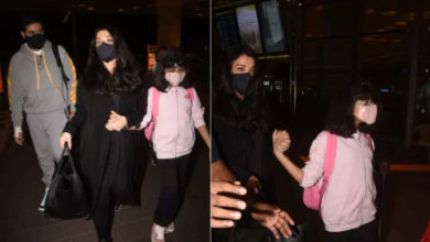 Photo of Aishwarya Rai reached airport after two years holding daughter Aaradhya's hand while traveling abroad with husband