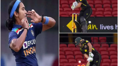 Photo of shikha pandey: The best dance of the century?  Shikha Pandey, Alyssa Healy cleans up bowling to stun the cricket world!  – india pacer shikha pandey bowls awesome delivery to fire alyssa healy