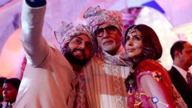 Photo of Wrong age written to Amitabh Bachchan in birthday post, daughter Shweta corrects mistake