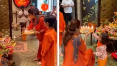 Photo of Shilpa Shetty read mother Ambani's aarti with children, said – did not save the values in children